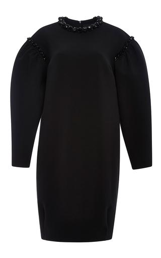 Black jersey neoprene embellished collar dress by SIMONE ROCHA Now Available on Moda Operandi