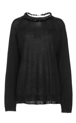 Wool silk cashmere knit with detailed collar by SIMONE ROCHA Now Available on Moda Operandi