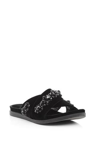 Velvet beaded flower sandals by SIMONE ROCHA Now Available on Moda Operandi