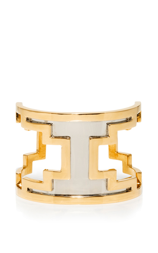 M'o exclusive: ducane gold and ruthenium cuff by MONICA SORDO Now Available on Moda Operandi