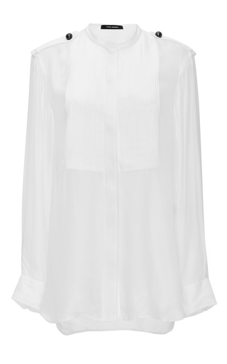 Sophia White Silk Mousseline Button Up Blouse by ISABEL MARANT Now Available on Moda Operandi