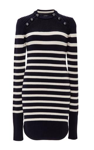 Haeza Striped Wool Blend Knit Dress by ISABEL MARANT Now Available on Moda Operandi