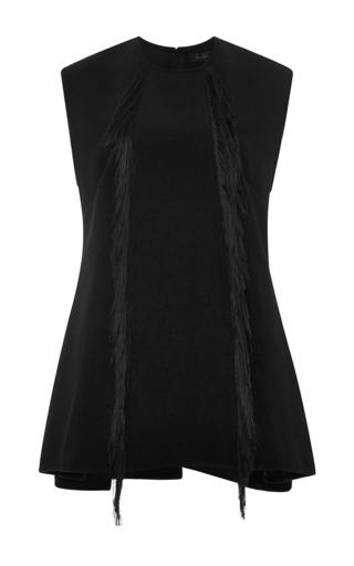 Black tantalise sleeveless peplum top with fringe by ELLERY Now Available on Moda Operandi