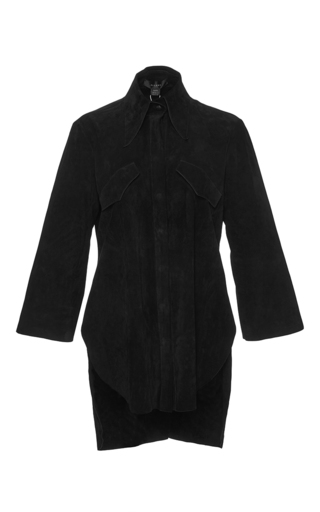 Black suede klimt button down shirt by ELLERY Now Available on Moda Operandi