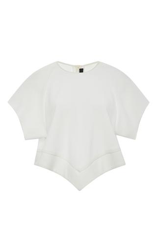 Ivory milieu crop raglan tee with handkerchief hem by ELLERY Now Available on Moda Operandi