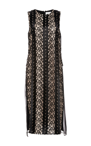 Black cable guipure lace dress by PRABAL GURUNG Now Available on Moda Operandi