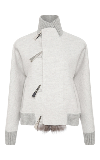 Cashmere bomber jacket with fur lining by PRABAL GURUNG Now Available on Moda Operandi