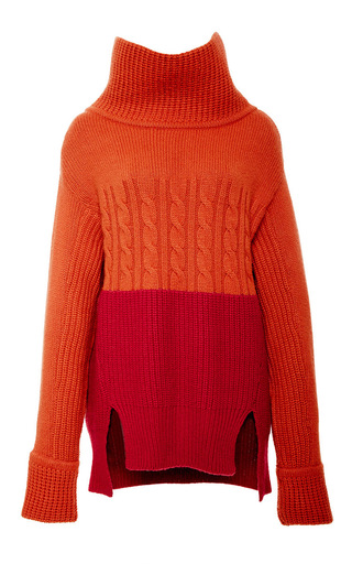 Color block turtleneck sweater by PRABAL GURUNG Now Available on Moda Operandi
