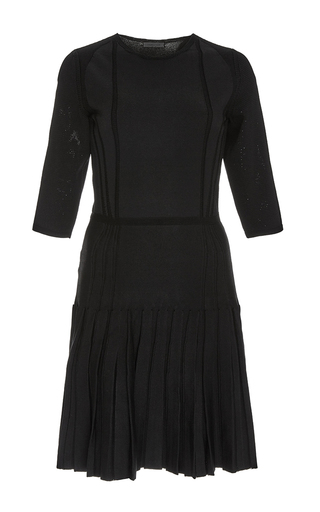 Black long sleeved drop waist dress by CUSHNIE ET OCHS Now Available on Moda Operandi