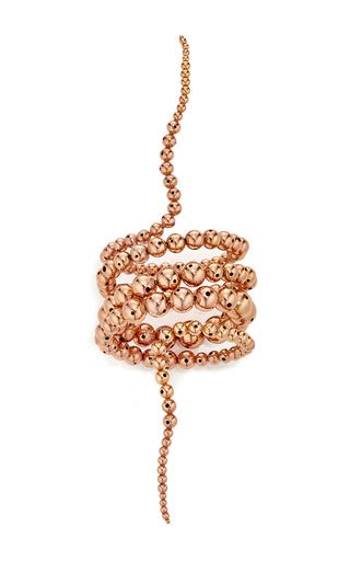 Rose gold double nereus bubble bracelet by PAULA MENDOZA Now Available on Moda Operandi