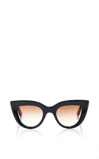 Black quixote cat eye sunglasses by ELLERY Now Available on Moda Operandi