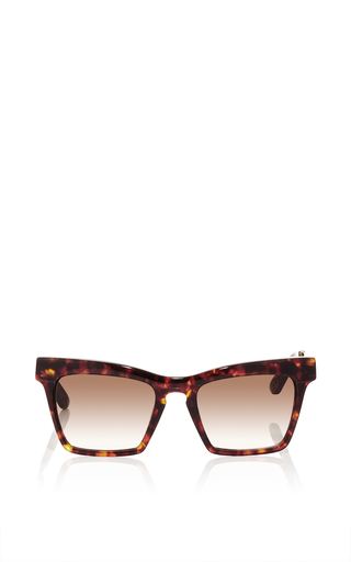Tortoiseshell cremaster angular unisex sunglasses by ELLERY Available Now on Moda Operandi