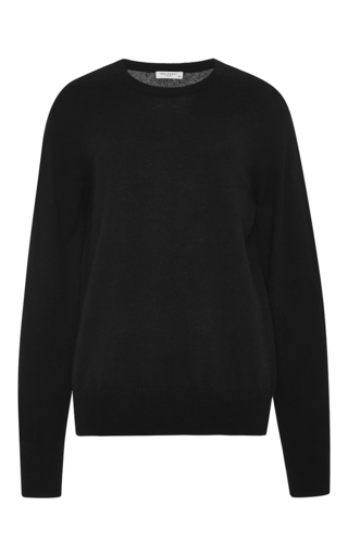 Black cashmere sloane crewneck sweater by EQUIPMENT Now Available on Moda Operandi