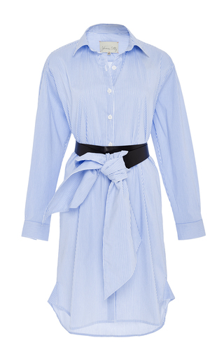 Cotton striped palau shirt dress by JOHANNA ORTIZ Available Now on Moda Operandi