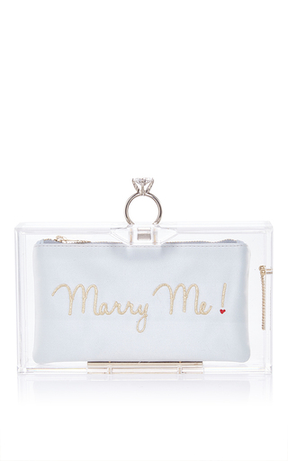 Charlotte olympia marry me clutch by CHARLOTTE OLYMPIA Preorder Now on Moda Operandi