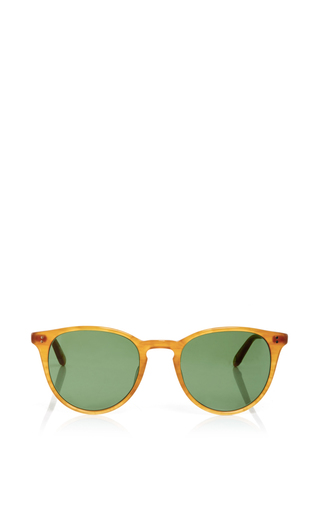 Milwood tan and green sunglasses by GARRETT LEIGHT Now Available on Moda Operandi