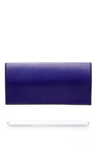 Klein blue lambskin and plexiglass clutch by HUGO MATHA Now Available on Moda Operandi