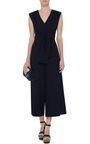 Delave Cotton Tie Front Jumpsuit by TIBI Now Available on Moda Operandi