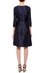 Navy Floral Embroidered Dress by OSCAR DE LA RENTA Now Available on Moda Operandi