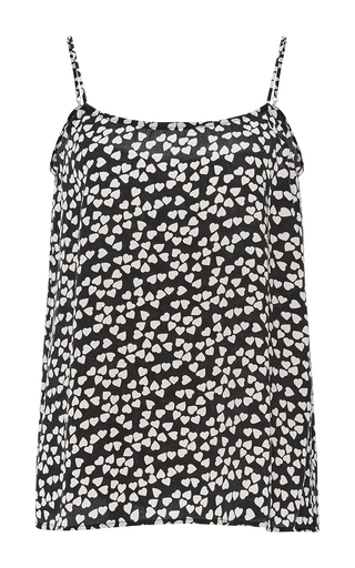Printed Silk Cara Cami Pajama Top by EQUIPMENT Now Available on Moda Operandi