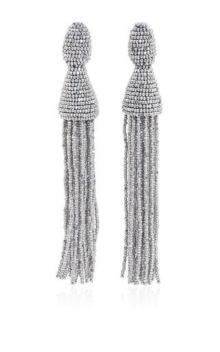 Silver tassel earrings by OSCAR DE LA RENTA Now Available on Moda Operandi