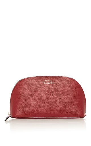 Panama Collection Leather Cosmetics Case  by SMYTHSON Now Available on Moda Operandi