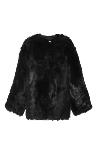 Black Shearling Military Jacket by R13 Now Available on Moda Operandi