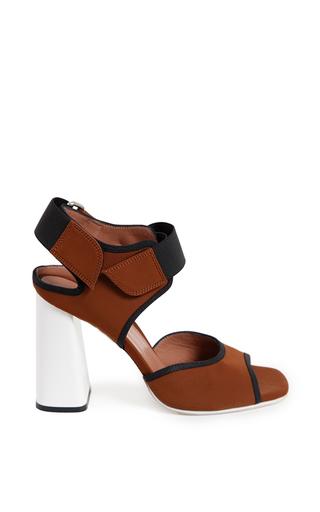 Selva sandal in tobacco by MARNI for Preorder on Moda Operandi