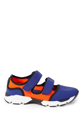 Bluette & orange sneaker by MARNI for Preorder on Moda Operandi