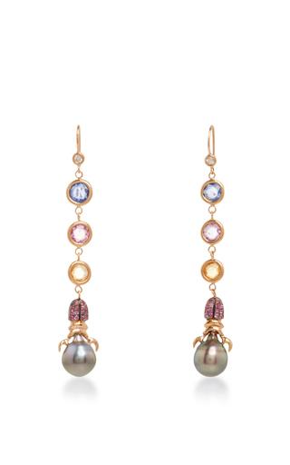 18k gold and south sea pearl nefertiti fairy earrings by DANIELA VILLEGAS Now Available on Moda Operandi