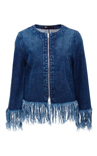 Denim Fringed Hem Jacket by 3X1 Now Available on Moda Operandi
