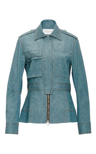 Linen Denim Military Jacket by DEREK LAM 10 CROSBY Now Available on Moda Operandi
