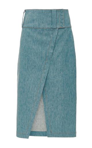 Linen Denim Pencil Skirt  by DEREK LAM 10 CROSBY Now Available on Moda Operandi