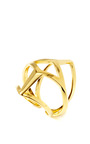 Geometric Gold Plated Edie Ring by EDDIE BORGO Now Available on Moda Operandi