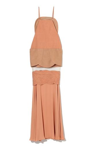 Bright Nude Illusion Gown By Paula Raia  Moda Operandi-5490