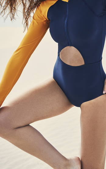 7a75756a95 The designers: NYC-based Megan Balch and Jamie Barker founded their swim  label to create surf-wear that works equally well poolside.