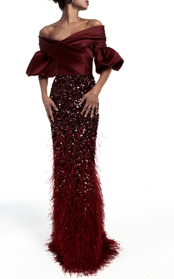 The Designer A Design History In Couture And An Eye For Color Make Kennedy Standout Eveningwear Nbsp This Season It S About Cascading Ruffle