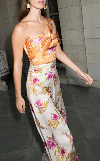 20649da9325 Shop Looks. Shop Products. AMURVi One-Shoulder Floral-Print Silk Crepe De  Chine Dress