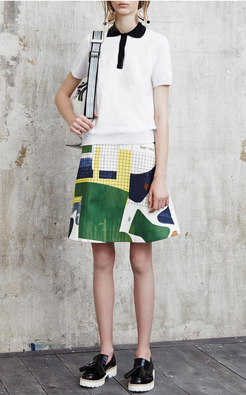 MSGM Resort 2016 Look 2 on Moda Operandi