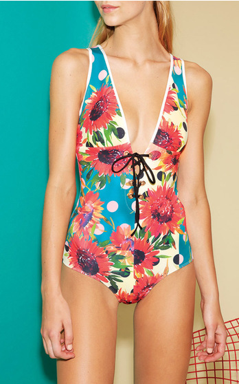 The L A Label That S Perfected Party Dress Formula Brings Its Venice Beach Ready Vibe To Swimwear For Fourth Season