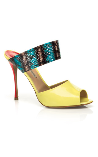Medium nicholas kirkwood print elaphe slip stiletto sandal