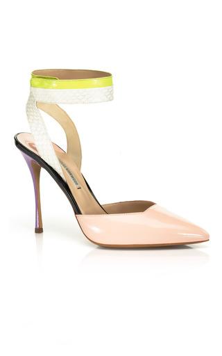 Medium nicholas kirkwood blue wide ankle strap stiletto shoe