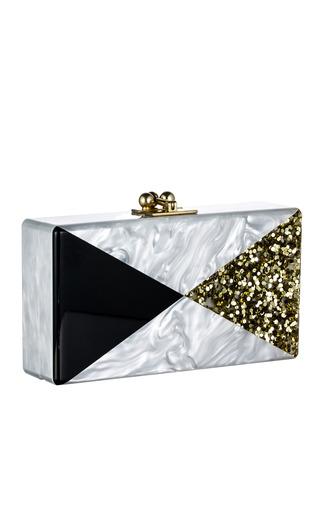 Medium edie parker gold pearl pearlescent triangles jean clutch
