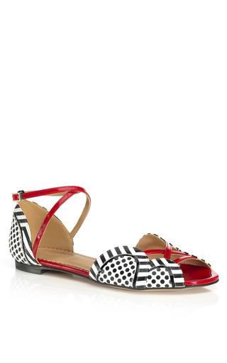 Medium aquazzura red black white and red mojito sandal