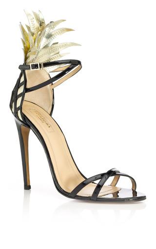 Medium aquazzura black gold and black pina colada sandal 2