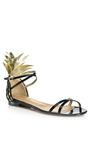 Gold And Black Pina Colada Flat Sandal by AQUAZZURA for Preorder on Moda Operandi