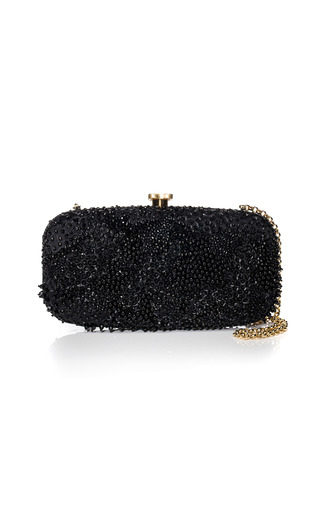 Medium oscar de la renta black black new goa clutch