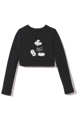 Medium marc jacobs black sequin mickey mouse embroidered sweater