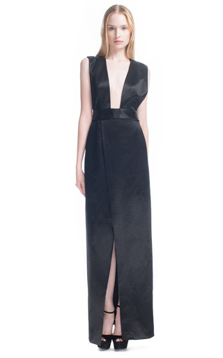 Medium theyskens theory black deilidh column dress