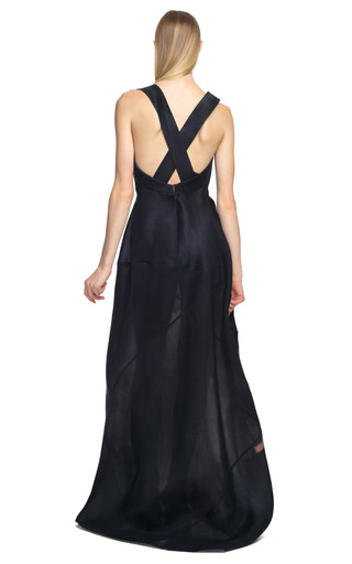 Sculpted Neckline Evening Gown by DONNA KARAN for Preorder on Moda Operandi